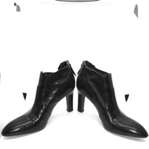 Franco Sarto, Ankle Zip-Up, Black Booties